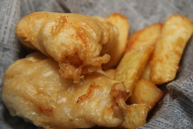 Friterad banan, ostkaka, fish n chips 104